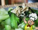 金针菇炒菜心的做法